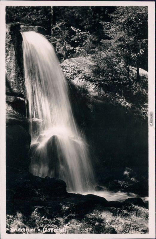 Ansichtskarte Karlsberg Karłów Heuscheuer - Wasserfall 1934