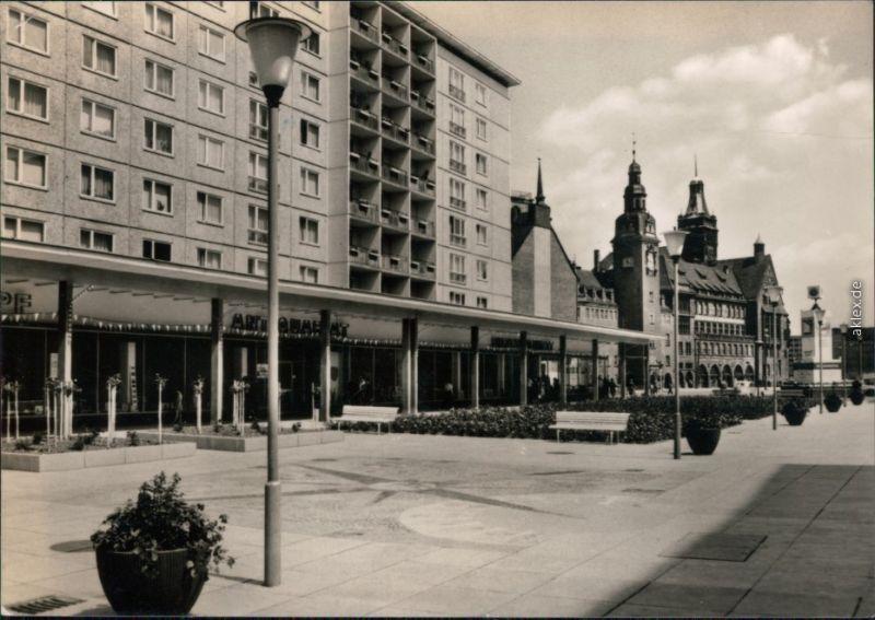 Ansichtskarte Zentrum-Chemnitz Karl-Marx-Stadt Rosenhof mit Rathaus 1967