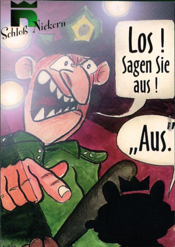 Ansichtskarte  Reklame & Werbung - Scherzkarten - Schloss Nickern 1997
