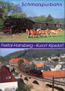 Ansichtskarte  Schmalspurbahn Freital-Hainsberg - Kurort Kipsdorf 1995