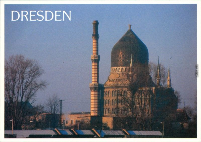 Ansichtskarte Friedrichstadt-Dresden Zigarettenfabrik YENIDZE 1995