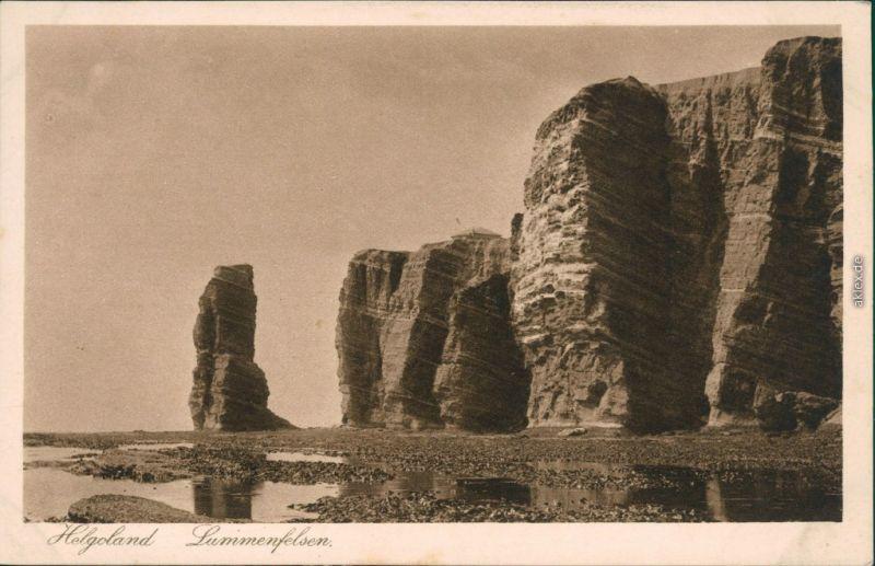 Ansichtskarte Helgoland (Insel) Lummenfelsen 1932
