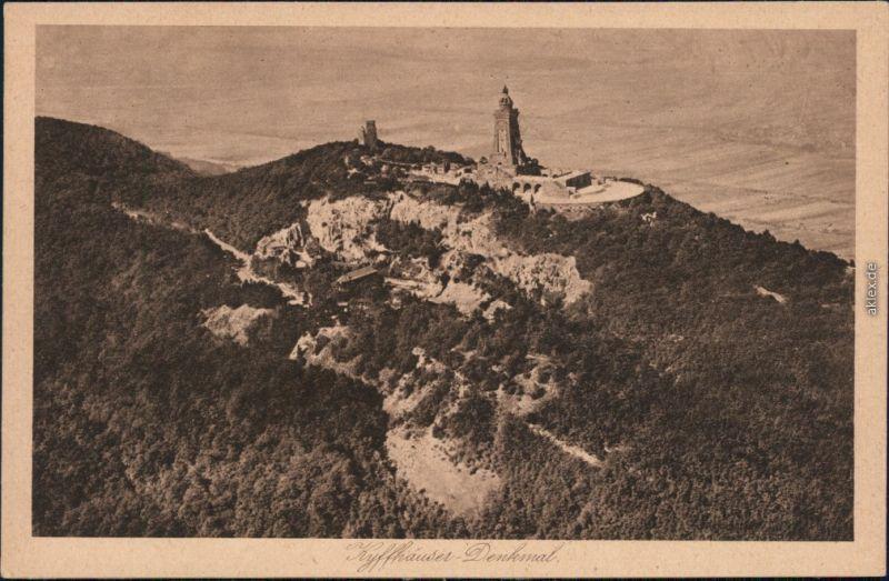 Kelbra (Kyffhäuser) Luftbild - Kaiser-Friedrich-Wilhelm/Barbarossa-Denkmal 1929
