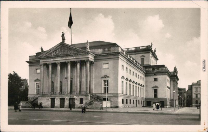 Ansichtskarte Mitte-Berlin Deutsche Staatsoper 1955