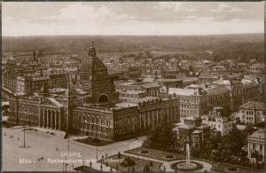 Ansichtskarte Leipzig Blick vom Rathausturm auf die Stadt 1929
