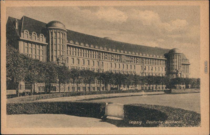 Ansichtskarte Leipzig Deutsche Bücherei 1955