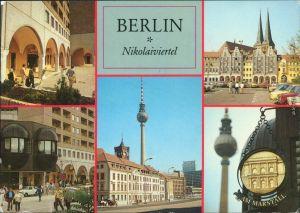 Mitte Berlin Verschiedene Ansichten aus dem Nikolaiviertel Fernsehturm g1988