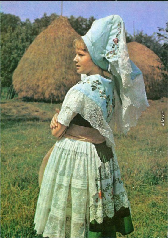 Ansichtskarte  Niedersorbische Festtracht 1978