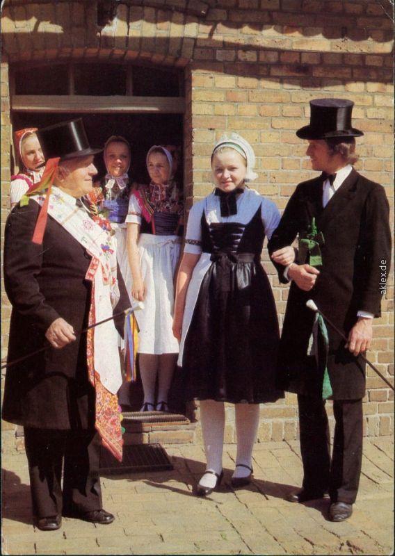 Ansichtskarte Schleife Sorbische Hochzeit 1980