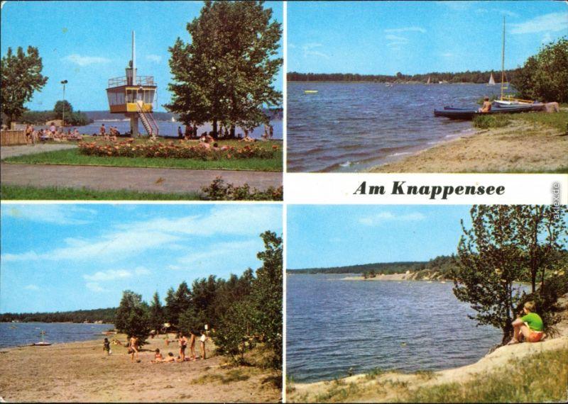 Ansichtskarte Groß Särchen-Lohsa Łaz Knappensee Badestrand g1982