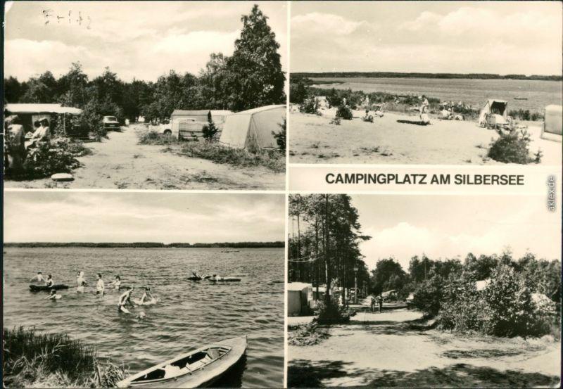 Lohsa Łaz Campingplatz am Silbersee b Wittichenau Hoyerswerda g1981