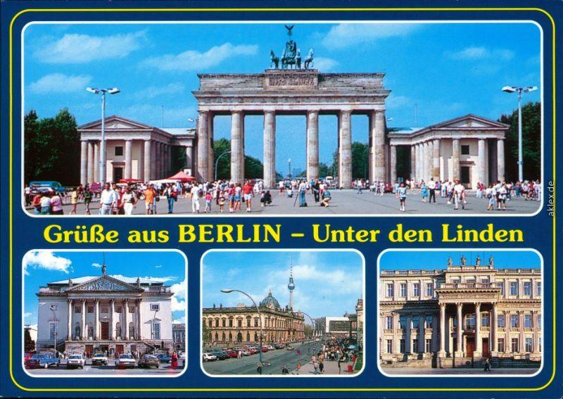 Ansichtskarte Mitte-Berlin Unter den Linden 1995