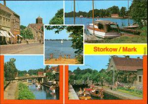 Storkow (Mark) Altstadt, Am Storkower See , Am Kanal, An der Schleuse 1986