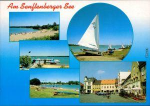 Senftenberg (Niederlausitz) Großkoschen Strand Seglerhafen, Niemtsch Markt 1995