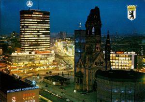 Charlottenburg-Berlin Europa-Center und Kaiser-Wilhelm-Gedächtniskirche 1990