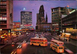 Charlottenburg-Berlin Europa-Center, Kaiser-Wilhelm-Gedächtniskirc Nacht 1973