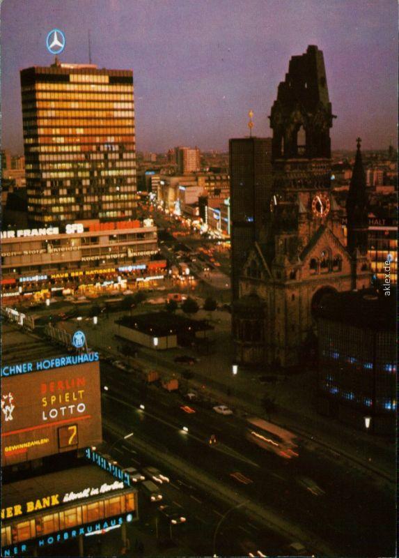Charlottenburg-Berlin Europa-Center und Kaiser-Wilhelm-Gedächtniskirche 1975