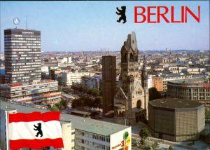 Charlottenburg-Berlin Kaiser-Wilhelm-Gedächtniskirche und Europa-Center 1975