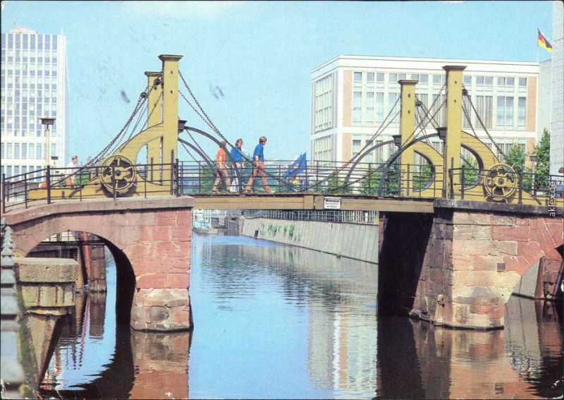 Ansichtskarte Mitte-Berlin Jungfernbrücke 1982