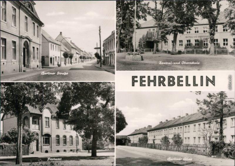 Fehrbellin Berliner Straße, Zentral- und Oberschule  Berliner Allee 1974