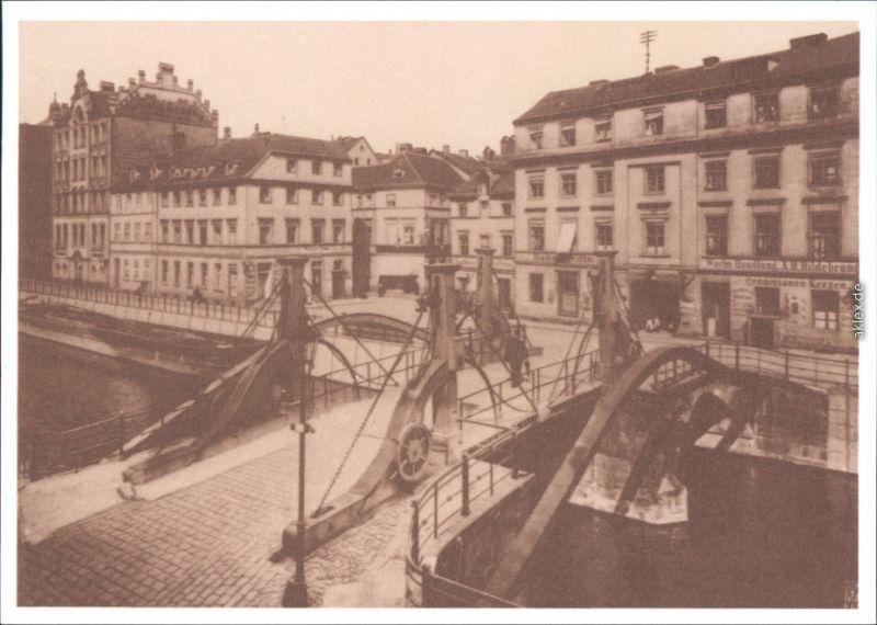 Ansichtskarte Mitte-Berlin Jungfernbrücke 1904/1987