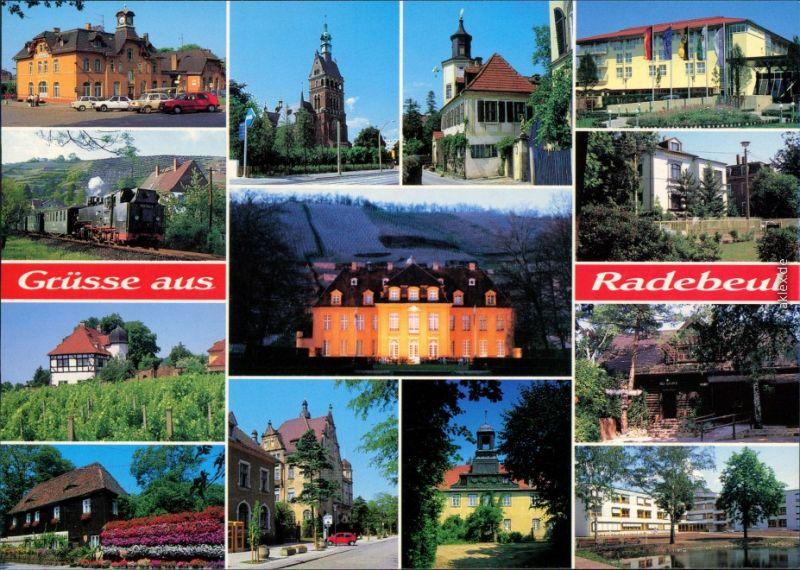 Radebeul Bahnhof, Kleinbahn, Hoflößnitz, Winzerhaus, Luther-Kirche, Schloß 1995