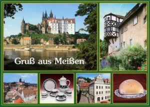 Ansichtskarte Meißen Albrechtsburg und Dom, Erker, Altstadt, Markt 2000