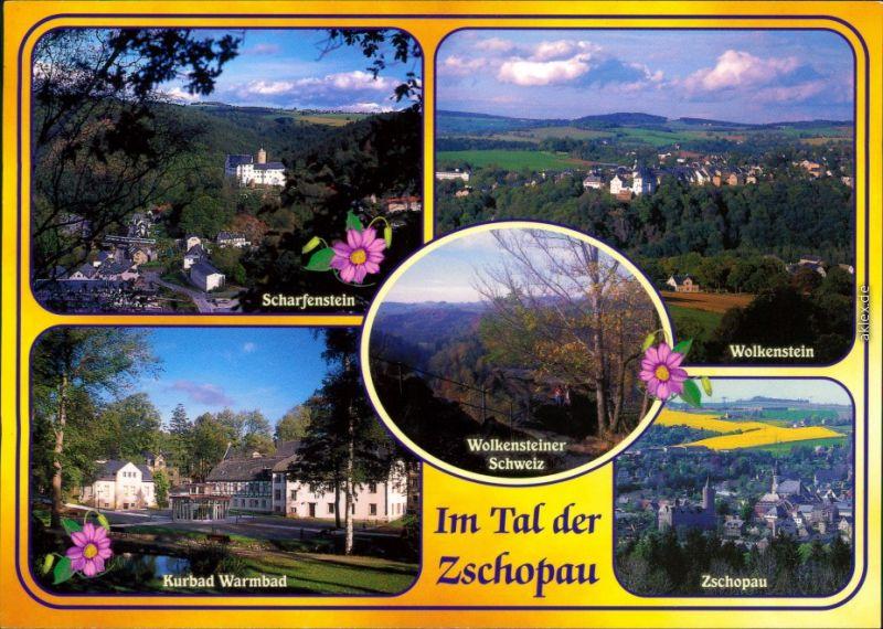 Zschopau Scharfenstein, Wolkenstein, Kurbad Warmbad, Zschopau 1995