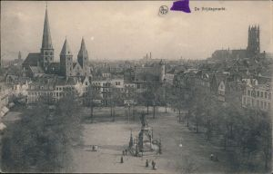 Gent Ghent (Gand) Platz von Vendredi, Vrijdagmarkt (Gent / Gand) 1918