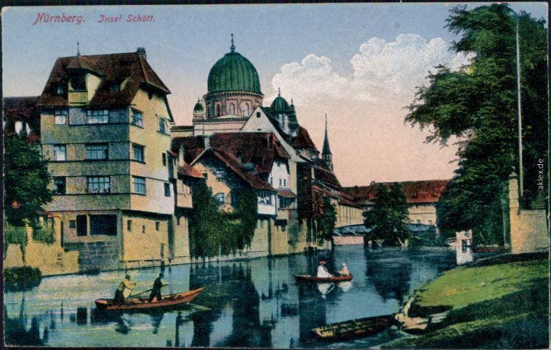 Ansichtskarte Nürnberg Insel Schütt 1920