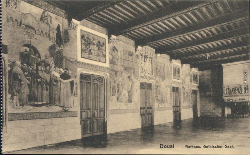 CPA Douai Dowaai Rathaus - Gothischer Saal 1914