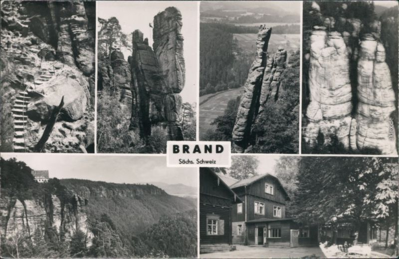 Brand (Sächsische Schweiz) Sächsische Schweiz -   Treppe, Haus 1965