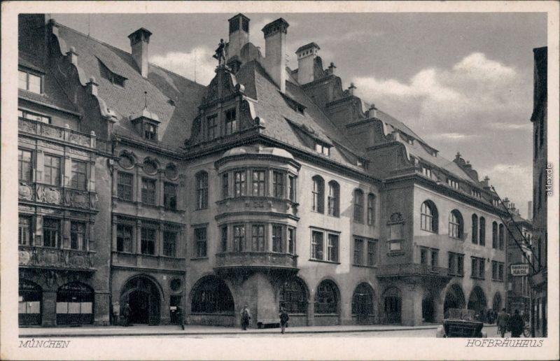 Ansichtskarte München Hofbräuhaus 1932