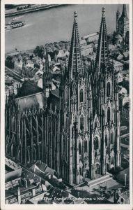 Ansichtskarte Köln Kölner Dom - Luftbild 1955