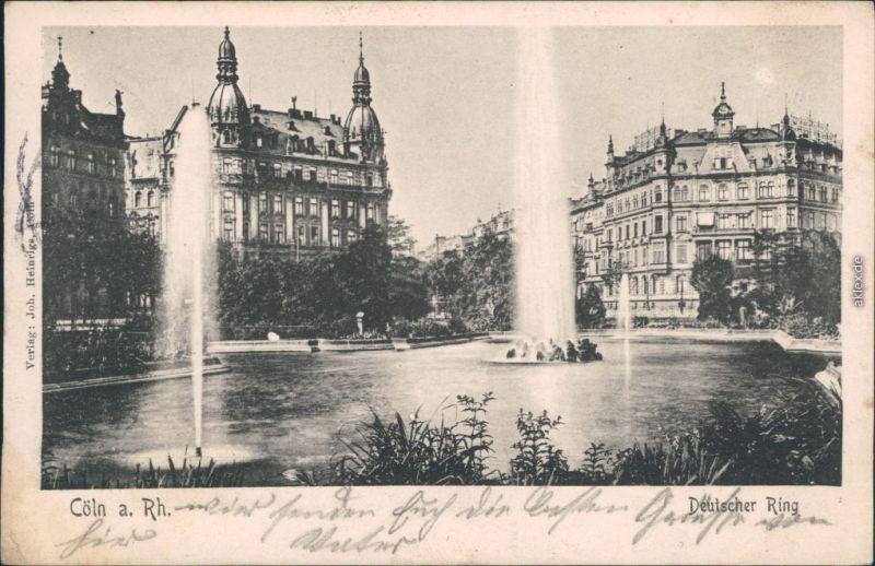Ansichtskarte Köln Deutscher Ring 1904