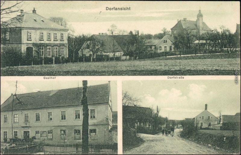 Zottewitz-Priestewitz 3B  Dorf, Gasthof und Dorfstraße b Großenhain  1929