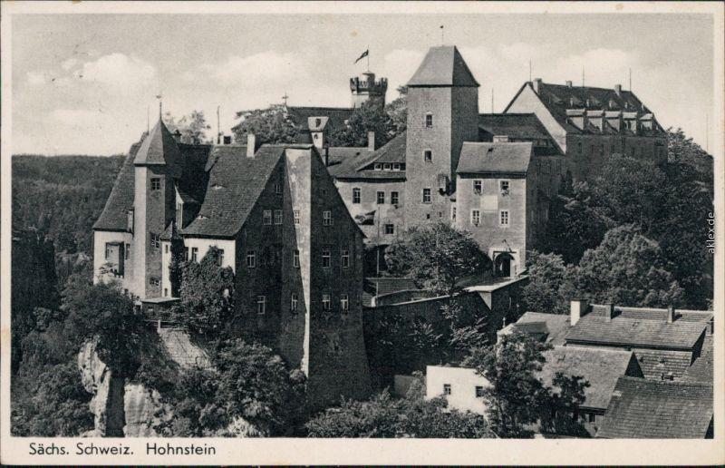 Ansichtskarte Hohnstein (Sächs. Schweiz) Burg Hohnstein 1938