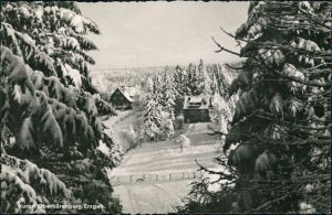 Ansichtskarte Oberbärenburg-Altenberg (Erzgebirge) Blick auf den Ort 1960