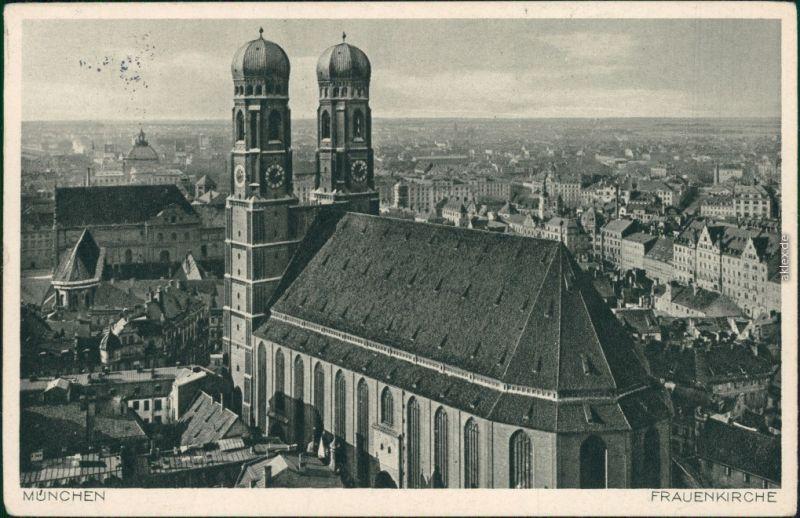 Ansichtskarte München Frauenkirche 1936