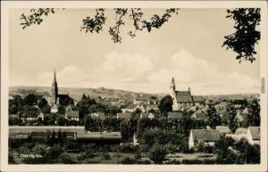 Ansichtskarte Ostritz (Oberlausitz) Wostrowc Panorama-Ansicht mit Kirchen 1954