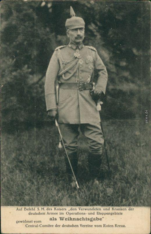 Ansichtskarte  Kaiser Wilhelm Militaria Rotkreuzkarte II 1916