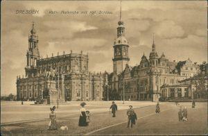 Innere Altstadt-Dresden Hofkirche - Fotomontage Menschen 1913