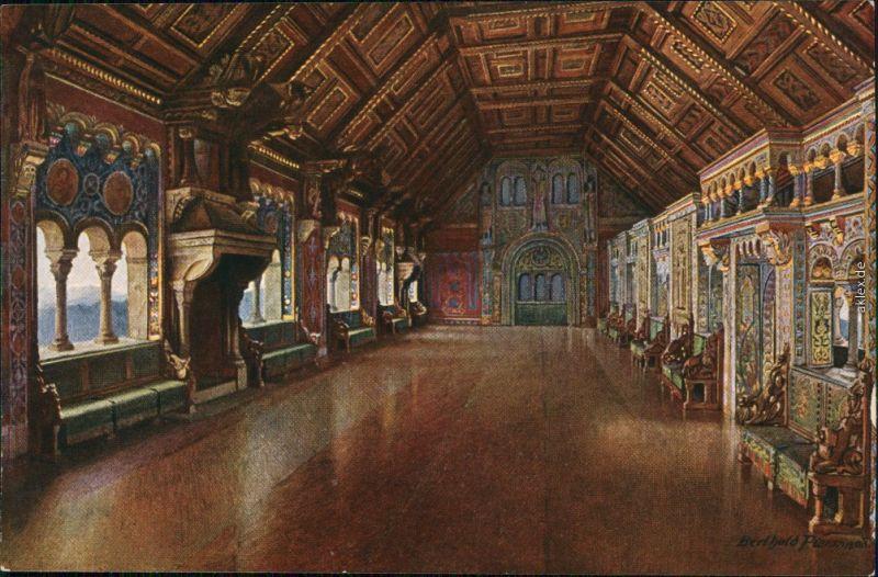 Ansichtskarte Eisenach Wartburg - Der Festsaal 1917