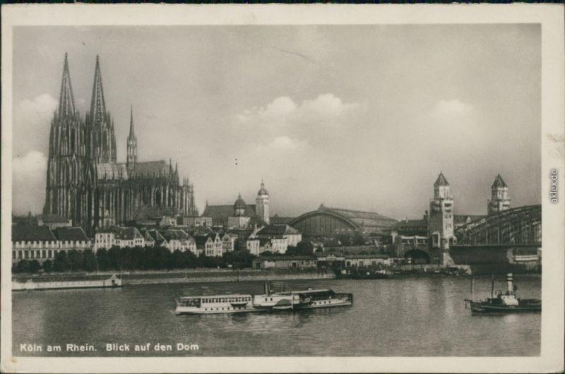 Ansichtskarte Köln Kölner Dom 1935