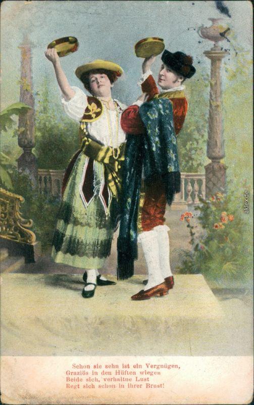Ansichtskarte  Trachten/Typen - Tänzer 1907
