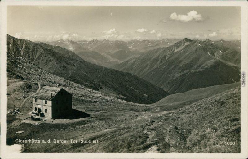 Kals am Großglockner Glorenhütte a. d. Berger Törl (2650 m) 1932