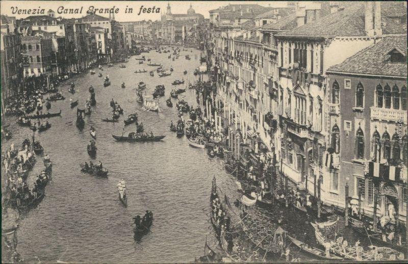 Ansichtskarte Venedig Venezia Canal Grande in festa 1915