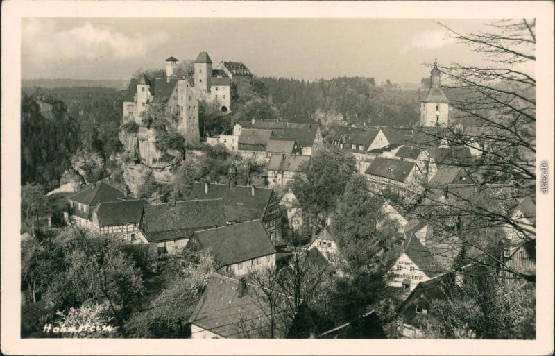 Ansichtskarte Hohnstein (Sächs. Schweiz) Burg Hohnstein 1953
