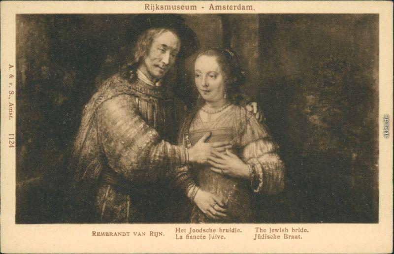 Den Haag / 's-Gravenhage Rembrandt van Rijn - Gemälde - Die Jüdische Braut 1915
