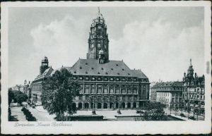 Ansichtskarte Innere Altstadt-Dresden Neues Rathaus 1940